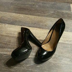 Pour Le Victoire heels black platform pumps shoes